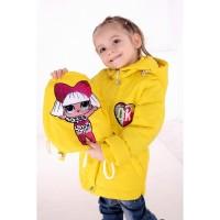 Демисезонные куртки - жилетки Сашенька с рюкзаком для детей 1-4 года, цвета разные