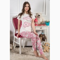 Хлопковая пижама, нежно-розовая