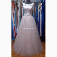 Пудровое платье для свадьбы, росписи, выпускного бала