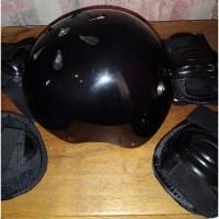 Детский шлем+комплект наколенников/налокотников, 48-54см
