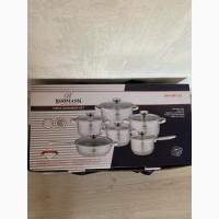 Набор кастрюль и сковорода из нержавеющей стали набор кухонной посуды 12 предметов Bohmann