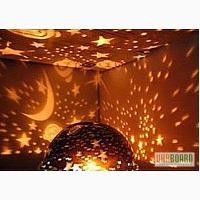 Детский вращающийся ночник-проектор звездное небо
