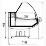 Холодильная витрина Cryspi Blues 1.2 1.3 1.5 1.6 1.8 2.0 метра Новые