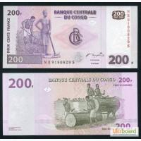 Конго 200 франков UNC