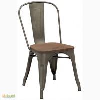Стул Толикс Вуд (Tolix Wood) из стали Украина, дизайнерский стул Толикс Вуд (Marais Wood)