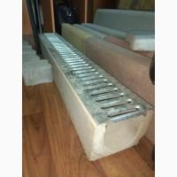Лоток водоотводный бетонный DN 100 размер 1000*140*130.Желоб водосточный.Водоотвод