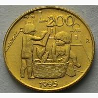Сан - Марино 200 лир 1995 год ОТЛИЧНАЯ
