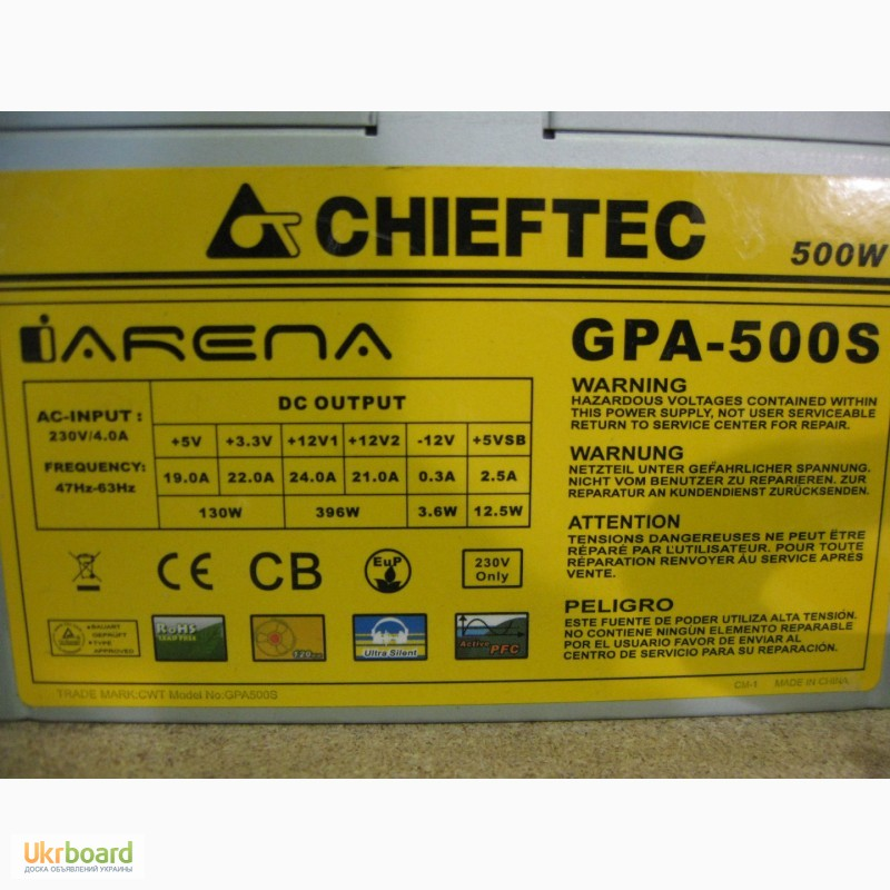 Фото 4. Блок питания CHIEFTEC 500W