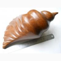 Большая морская ракушка из дерева