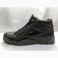 Скидка!Зимние кожаные ботинки под кроссовки на молнии Madoks