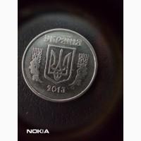 Продам монету Украины 5 коп.2013 г.с браком на аверсе