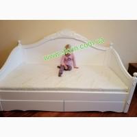 Детская подростковая деревянная кровать Скарлет софа без оббивки