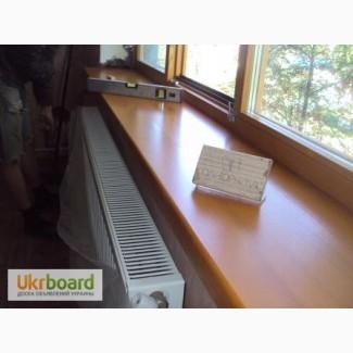 Деревянные подоконники из сосны и дуба изготавливаем по той же технологии, что окна и две