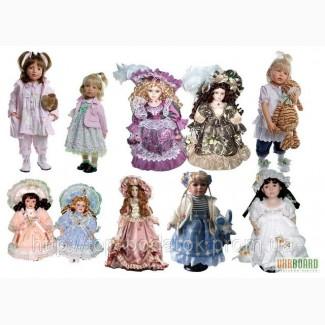 Кукла фарфоровая декоративная