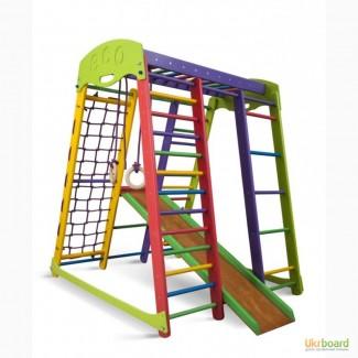Детский спортивный уголок, спортивный комплекс, спортивная стенка «Акварелька мини»