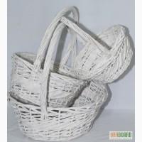 Плетеные корзины круглые и овальные,набор 3шт 38*38*38см,45*38*40см