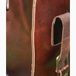 Продается большая дорожная кожаная сумка с выдвижной металлической тележкой, винтаж
