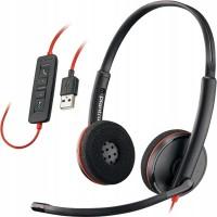 Plantronics BlackWire C3220-A (209745-101) - проводная гарнитура (стерео, USB-A)