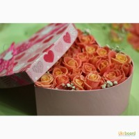 FlowerBox на День Влюбленных, Цветы в коробке в Киеве