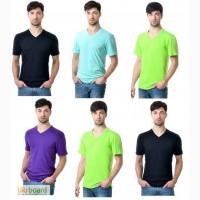 Мужские футболки от производителя C V Вырезом 4-цвета