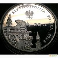 20 злотых 2008 года СЕРЕБРО 925 ОТЛИЧНАЯ