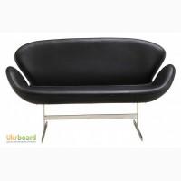 Дизайнерский двухместный диван Лебедь Экокожа (Swan Ecoskin)