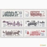 Почтовые марки СССР 1981. 6 марок История городского транспорта Москвы (XIX - XX вв.)