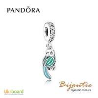 PANDORA шарм тропический попугай 91903ENMX