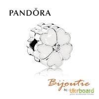 Оригинал PANDORA шарм-клипса белая примула 791822EN12