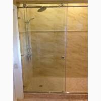 Раздвижная стеклянная перегородка душ Одесса
