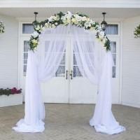 Аренда свадебной арка из искусственных цветов