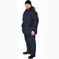Костюм утепленный, куртка модельная, полукомбинезон, тк.осло, темно-синий
