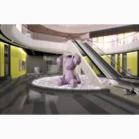 Полигональные скульптуры животных, для торговых и развлекательных центров