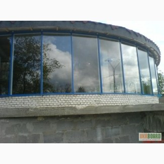Фасады алюминиевые стекляные