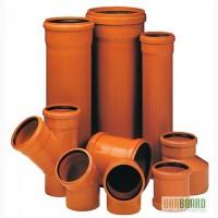 Трубы и фитинги ПВХ для наружной канализации производства Мпласт