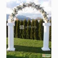 Свадебные арки, цветочные стойки, колонны, свадебный фон, прокат