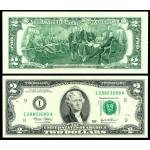 Деньги - лучший подарок! купюра 2 доллара США 2013 год выпуска