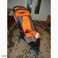 Продам прогулочную коляску Geoby 922c оранжевую б/у + унив. зонтик Navingto