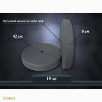 Блины, диски для штанги и гантелей 15 кг (указана цена за пару)