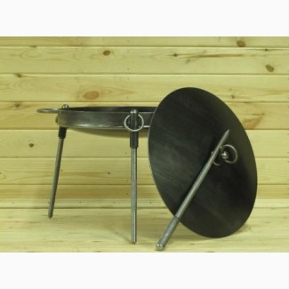 Сковорода из диска бороны с крышкой!Диаметр 400мм и 500мм