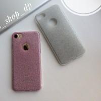 Силиконовый чехол с блестящим покрытием на iPhone 7/8
