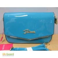 Клатч, сумочка лаковая Diary Klava бирюзовая, зеленая, синяя, красная