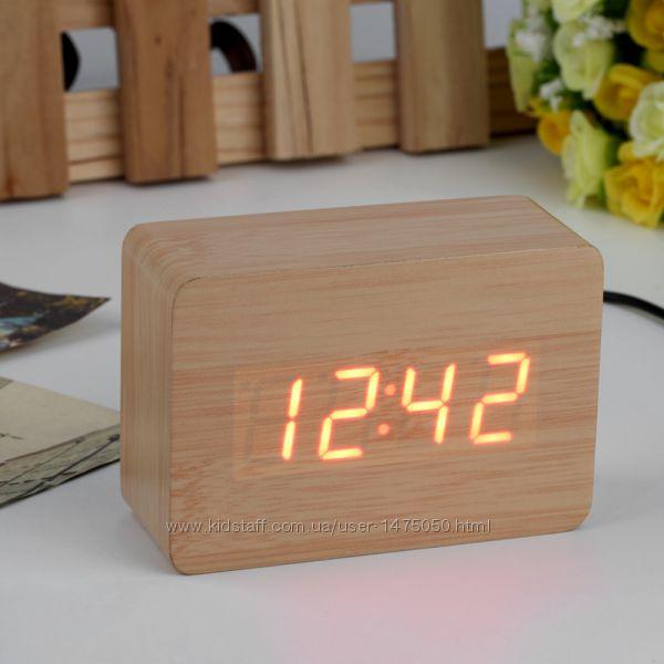 Фото 7. Настольные часы из дерева Куб Часы - будильник ДЕРЕВЯННЫЙ КУБ с термометром Подбор