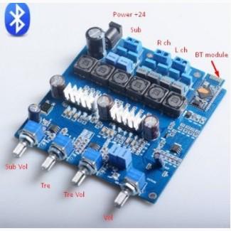 Усилитель 2.1 цифровой D-класс, Bluetooth, TPA3116D2 2*50/ 1*100Вт без АУКС (опционально)