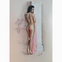 Рисунок в стиле «ню»»Белая колонна»