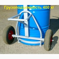 Бочковоз - тележка для бочки на 400 кг. Колёса (докатка). Apitherm