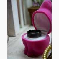 Черное матовое титановое кольцо в гранж стиле, унисекс 16 и 20 размер