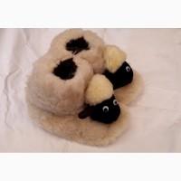 Детские теплющие пинетки - валенки Собачки и Барашки, размеры 22-34, опт и розница