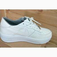 Новые женские белые высокие кроссовки Nike копия, 39 Киев