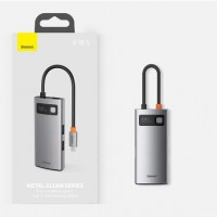 USB- Type C хаб 4 in 1 Baseus Metal Gleam Series USB-C to USB 3.0 + USB 2.0 + HDMI + PD